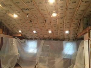 Isolamento termico a secco di un soffitto